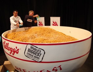 huge bowl of cereal