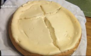 Crucifix in a cheesecake