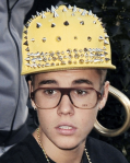 Justin Bieber hardhat