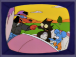 The Simpsons Poochy Itchy and Scratchy