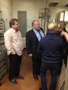 Rob Ford backstage in Coquitlam Foggy Dew