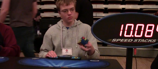 Canadian teen Rubik's Cube record