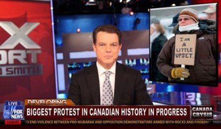 Canadian protest.