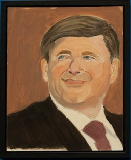 Stephen Harper as painted by George W. Bush